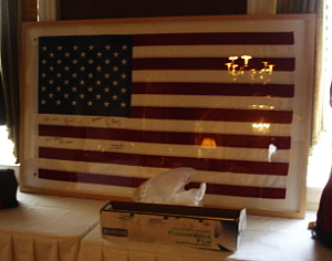 silent auction item displays flags
