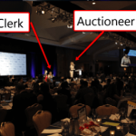 How many clerks spoil the benefit auction broth?