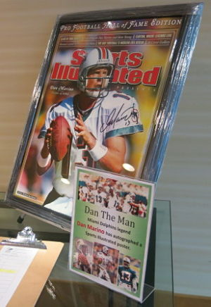consignment items for fundraisers Dan Marino