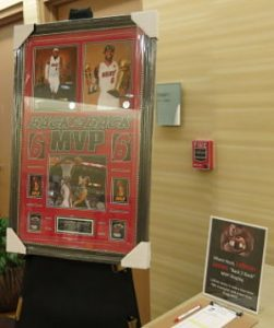 consignment items for fundraisers Miami Heat MVP