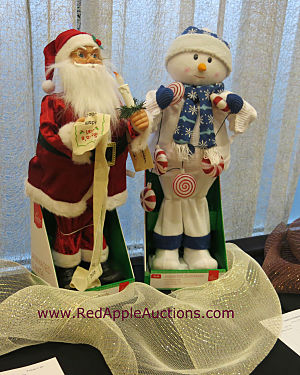 Silent auction item ideas santa and snowman