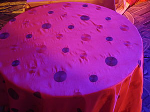 tablecloth in radiant orchid hue for fundraising auction theme
