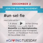 My favorite #Unselfie #GivingTuesday campaign