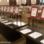 silent auction display, New Jersey benefit auction, Red Apple Auctions