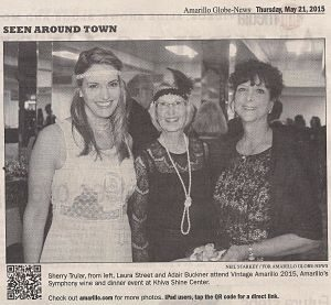 Co-chair Laura and a guest stand beside me. Laura cut this out of the paper and sent it to me.