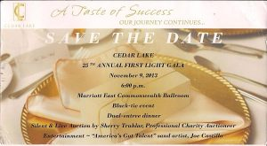 Save the Date CedarLake 2013