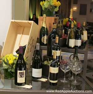 Each bottle was available for purchase, to be opened and consumed at the gala with the meal. Prices ranged from $30 to $200 per bottle.