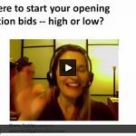 Opening bids in a fundraising auction
