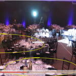 Best ballroom layout for an auction with dance floor