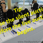 Best time to close the silent auction? Before the live auction begins.