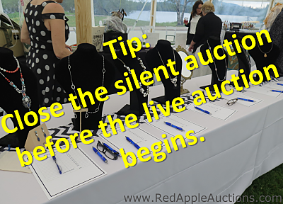 when to close the silent auction