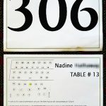 This auction bid card served many purposes: bid number, seating assignment, advertisement, and more