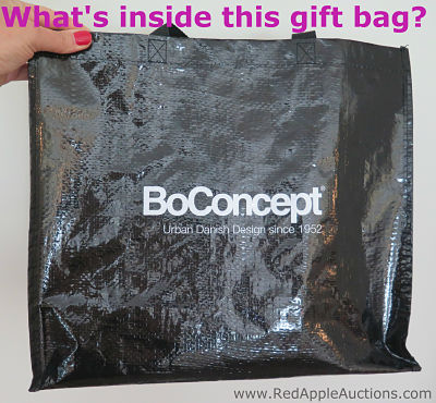 BoConcept charity auction gift bag from French school