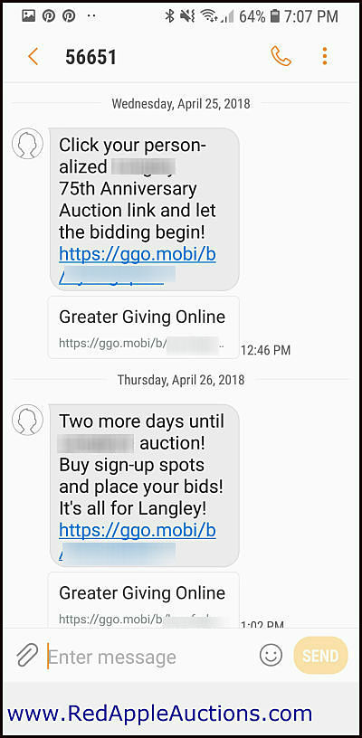 Mobile bidding, silent auction mobile bidding, silent auction software