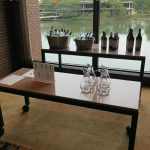 premium wine display at fundraising auction gala