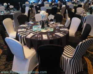 Gala Tables arranged after the work of auction seating meeting