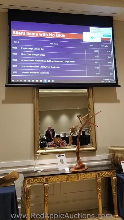 2019 OneCause mobile bidding screen at Lousiana gala