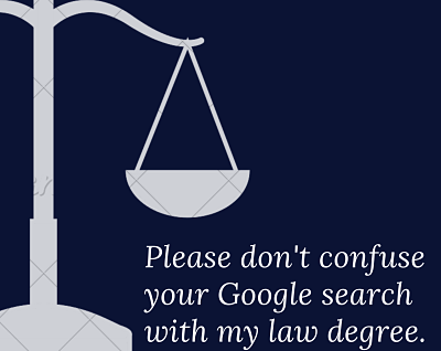 meme about law degree and google