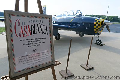 vintage plane auction gala casablanca