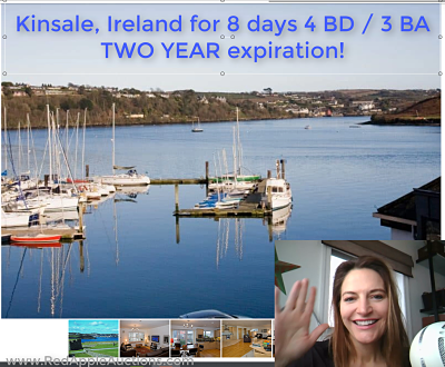 Video still screenshot of Kinsale Ireland auction item for an online school auction